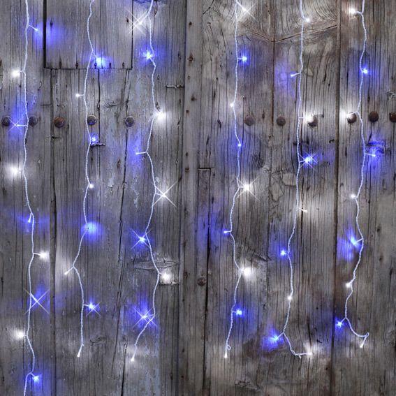 Rideau lumineux interconnectable h2 m bicolore 96 led - Rideau guirlande lumineuse ...