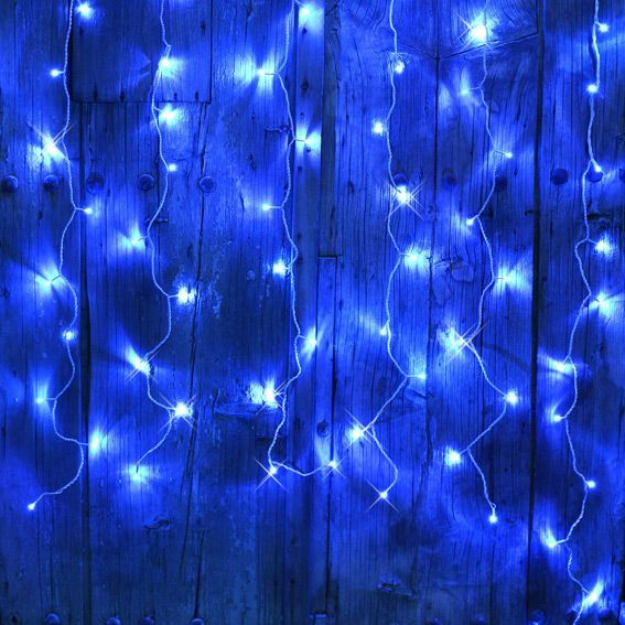 rideau lumineux interconnectable h2 m bleu 96 led guirlande lumineuse eminza. Black Bedroom Furniture Sets. Home Design Ideas