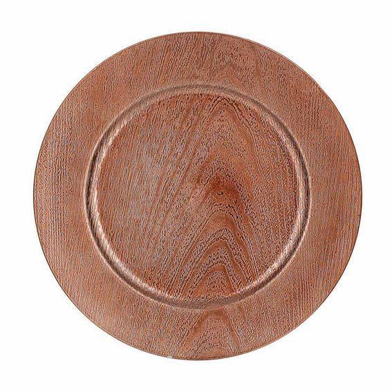 lot de 12 dessous d 39 assiette effet bois cuivre d coration pour la table eminza. Black Bedroom Furniture Sets. Home Design Ideas