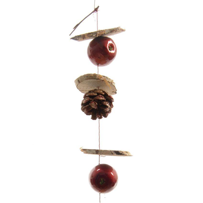 suspension naturelle d corative pommes guirlande et suspension nature eminza. Black Bedroom Furniture Sets. Home Design Ideas