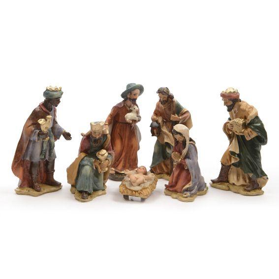 Les 7 santons de jules santons et personnages eminza for Decoration fenetre creche