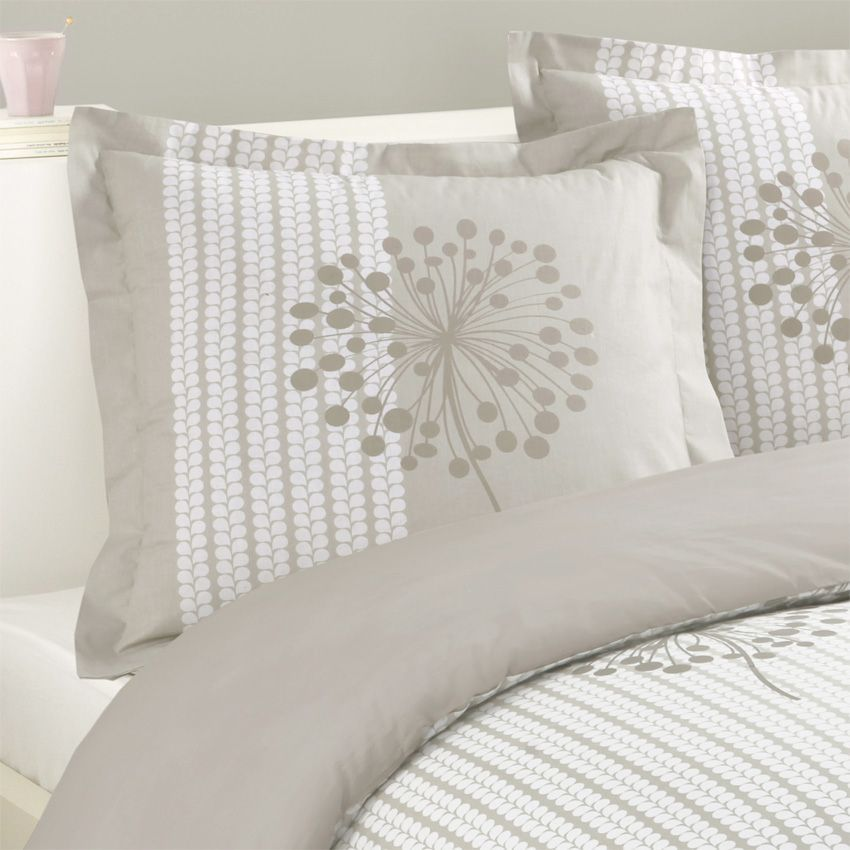 housse de couette et deux taies 240 cm anna taupe. Black Bedroom Furniture Sets. Home Design Ideas