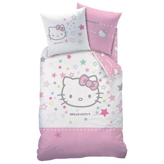 housse de couette et une taie 140 cm hello kitty galaxy housse de couette eminza. Black Bedroom Furniture Sets. Home Design Ideas