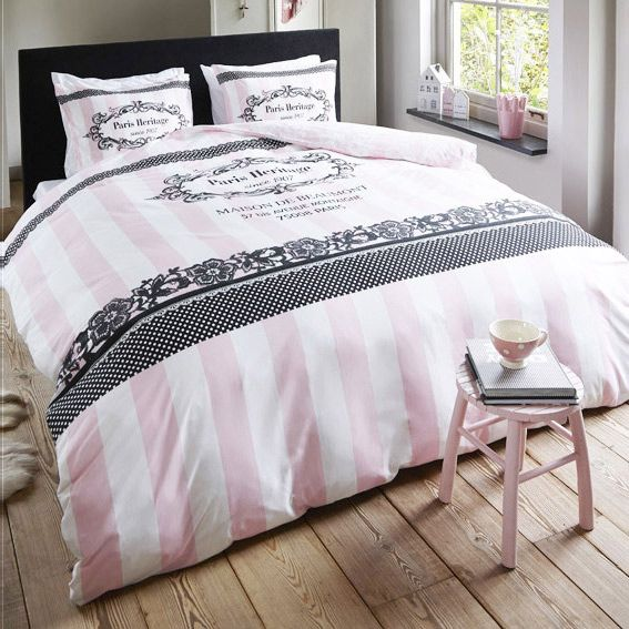 housse de couette et deux taies 240 cm secret heritage rose housse de couette eminza. Black Bedroom Furniture Sets. Home Design Ideas