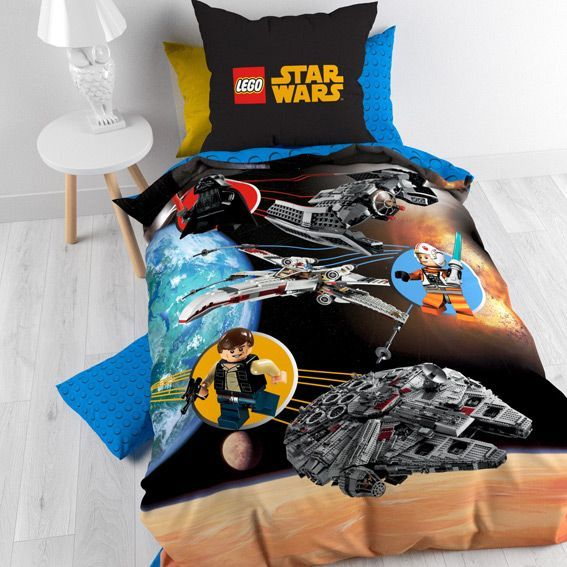 housse de couette et une taie 140 cm lego star wars housse de couette eminza. Black Bedroom Furniture Sets. Home Design Ideas