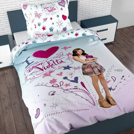 housse de couette et une taie 140 cm violetta i love housse de couette eminza. Black Bedroom Furniture Sets. Home Design Ideas