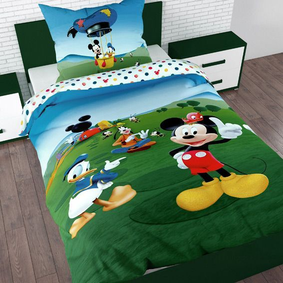 housse de couette et une taie 140 cm mickey balloon. Black Bedroom Furniture Sets. Home Design Ideas