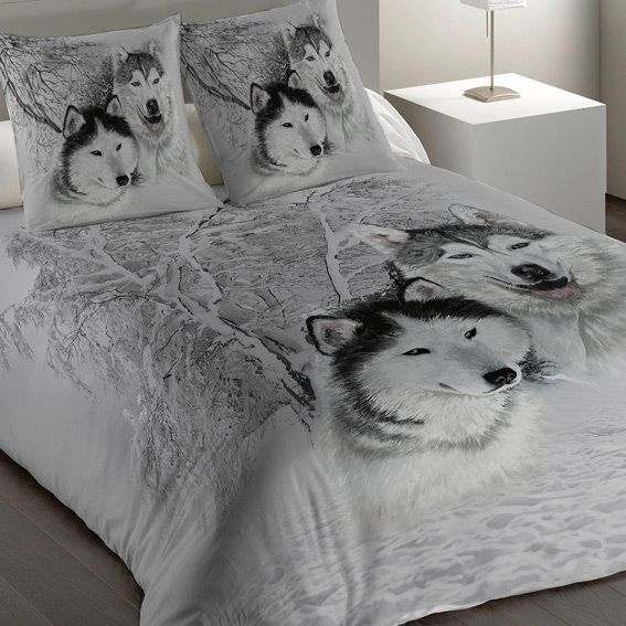 housse de couette et une taie 140 cm husky housse de. Black Bedroom Furniture Sets. Home Design Ideas