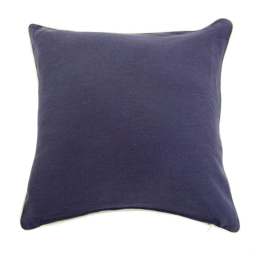housse de coussin lin sup rieur bleu marine coussin et housse de coussin eminza. Black Bedroom Furniture Sets. Home Design Ideas