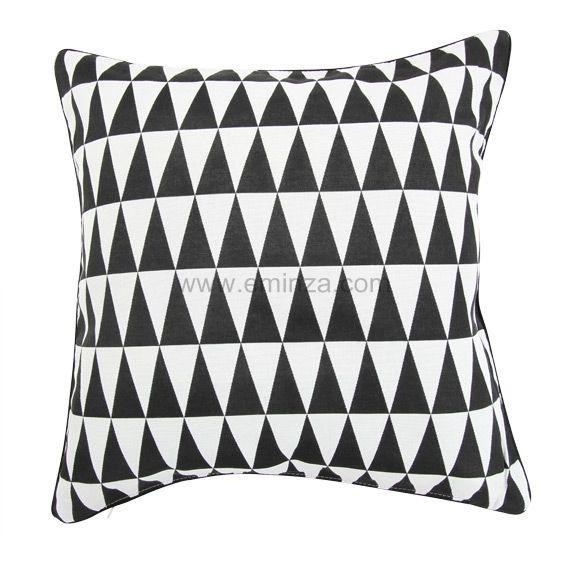 housse de coussin backgammon noir coussin et housse de coussin eminza. Black Bedroom Furniture Sets. Home Design Ideas