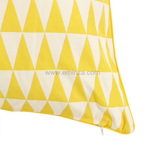 Housse de coussin backgammon jaune housse de coussin for Housse de coussin jaune