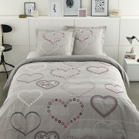 housse de couette et deux taies 260 cm valentine housse de couette eminza. Black Bedroom Furniture Sets. Home Design Ideas