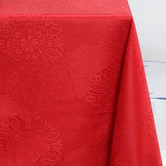 nappe rectangulaire l300 cm totema rouge linge de table eminza. Black Bedroom Furniture Sets. Home Design Ideas