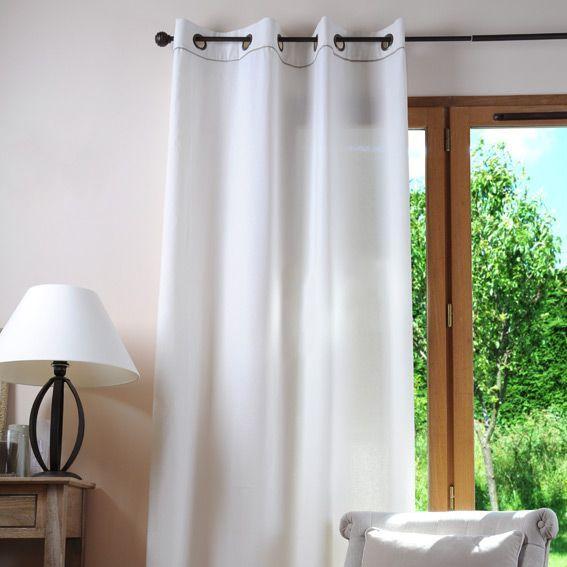 rideau 135 x h250 cm duo ecru rideau tamisant eminza. Black Bedroom Furniture Sets. Home Design Ideas