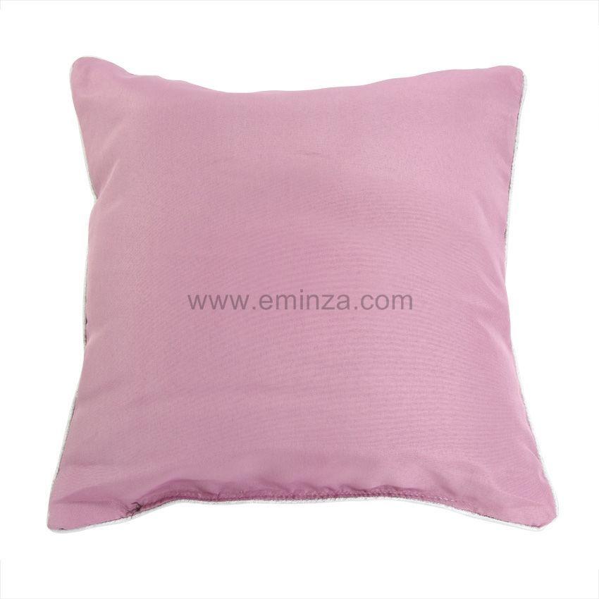 coussin microfibre platine rose coussin et housse de coussin eminza. Black Bedroom Furniture Sets. Home Design Ideas