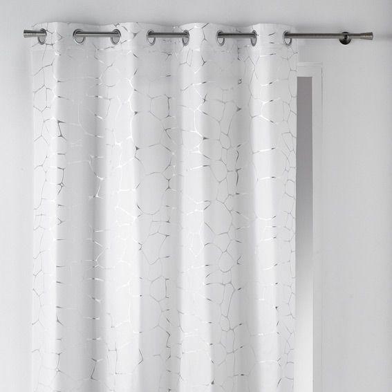 rideau 140 x h260 cm sahel blanc rideau tamisant eminza. Black Bedroom Furniture Sets. Home Design Ideas