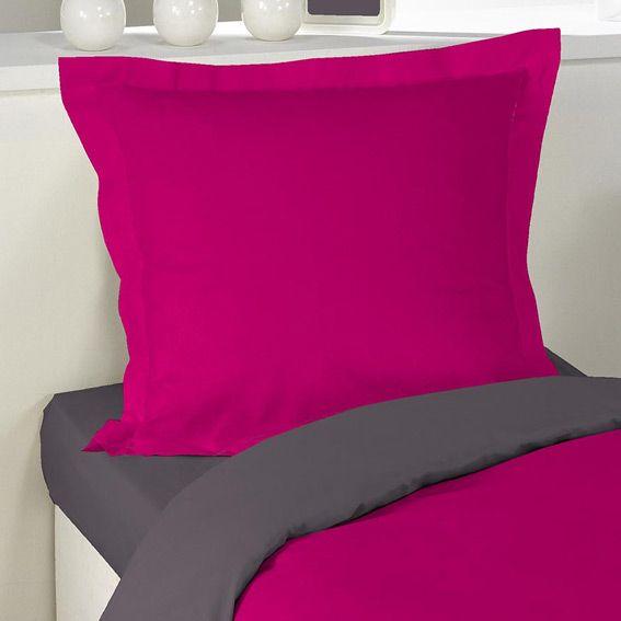 Housse de couette et une taie 140 cm bicolore rose for Housse de couette mimi la souris