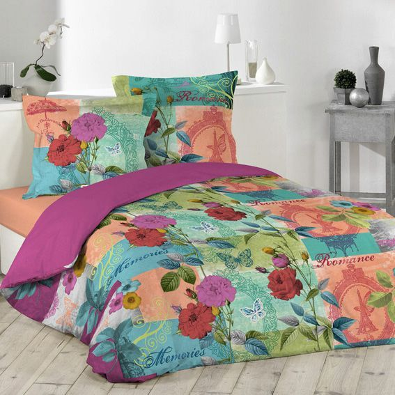 housse de couette et deux taies 240 cm gipsy housse de couette eminza. Black Bedroom Furniture Sets. Home Design Ideas