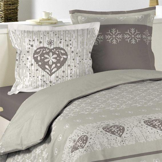 housse de couette et deux taies 260 cm courchevel taupe housse de couette eminza. Black Bedroom Furniture Sets. Home Design Ideas