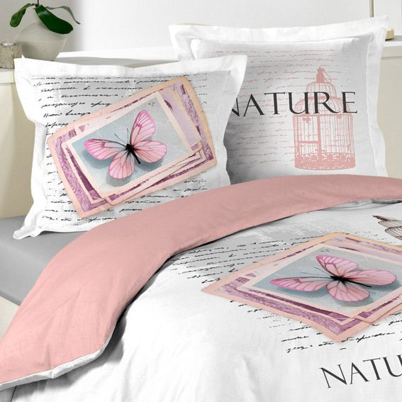 housse de couette et deux taies 240 cm nature pastel. Black Bedroom Furniture Sets. Home Design Ideas