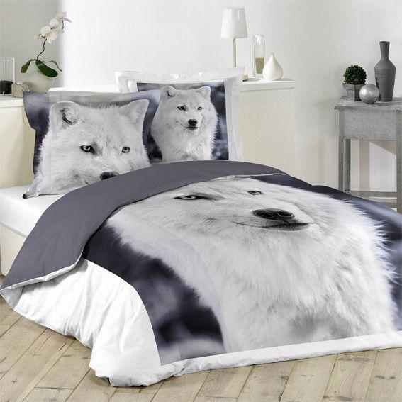 housse de couette et deux taies 260 cm chien loup housse de couette eminza. Black Bedroom Furniture Sets. Home Design Ideas