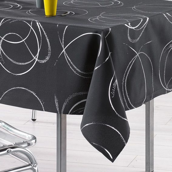 nappe rectangulaire l240 cm bully anthracite nappe de table eminza. Black Bedroom Furniture Sets. Home Design Ideas