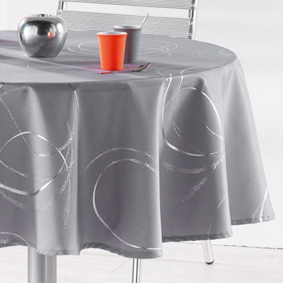 nappe ronde d180 cm bully perle nappe de table eminza. Black Bedroom Furniture Sets. Home Design Ideas