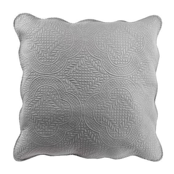 housse de coussin boutis 60 cm melissa gris coussin et galette eminza. Black Bedroom Furniture Sets. Home Design Ideas