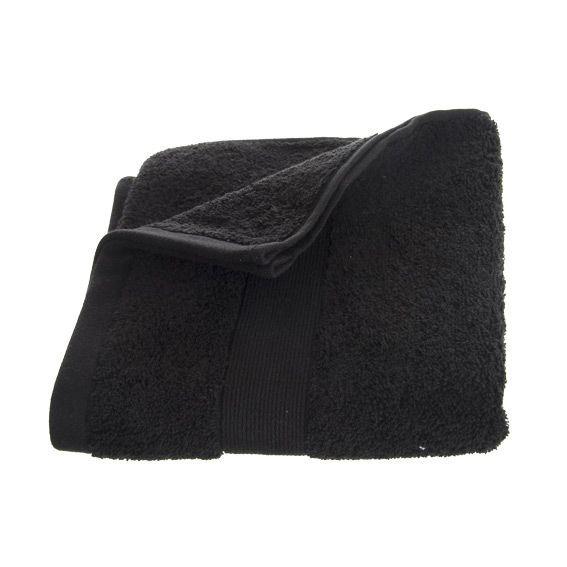 serviette de bain 50 x 90 cm vita noir serviette de bain eminza. Black Bedroom Furniture Sets. Home Design Ideas