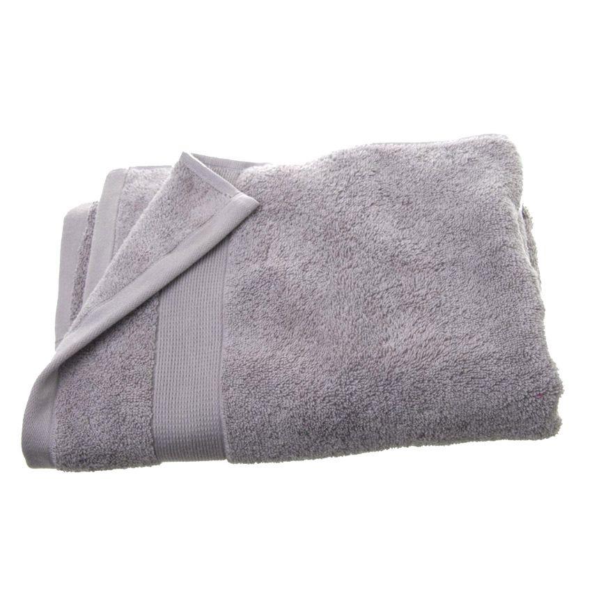 serviette de bain 70 x 130 cm vita gris serviette de bain eminza. Black Bedroom Furniture Sets. Home Design Ideas
