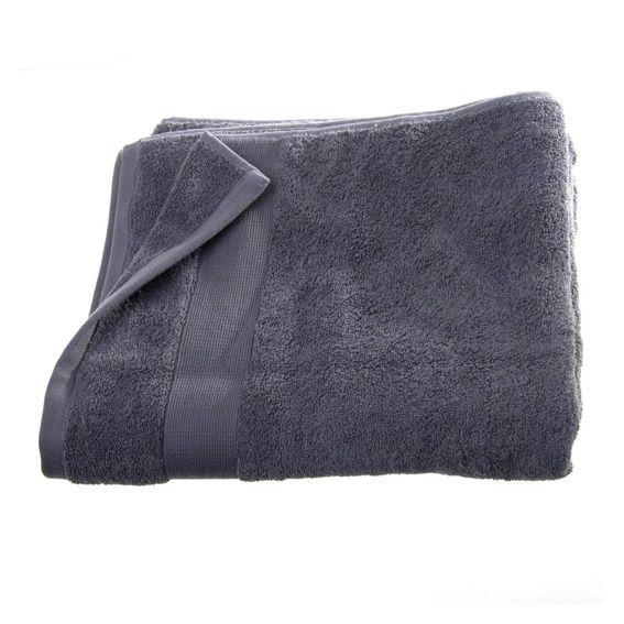 serviette de bain 100 x 150 cm vita anthracite serviette de bain eminza. Black Bedroom Furniture Sets. Home Design Ideas