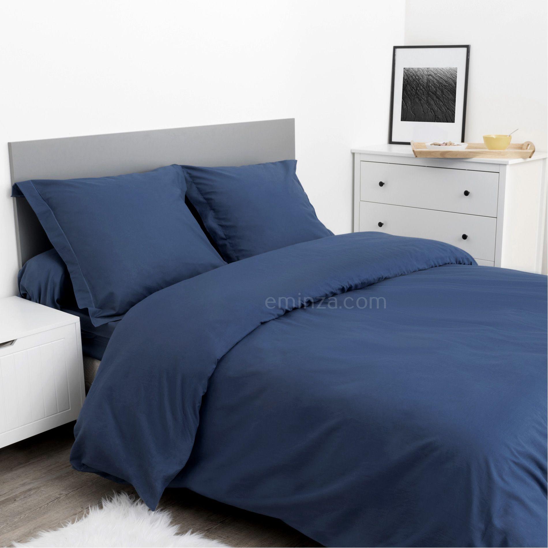 taie d 39 oreiller rectangulaire confort bleu taie d 39 oreiller traversin eminza. Black Bedroom Furniture Sets. Home Design Ideas