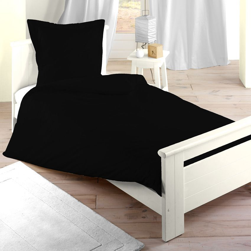 housse de couette 140 cm confort noir housse de. Black Bedroom Furniture Sets. Home Design Ideas