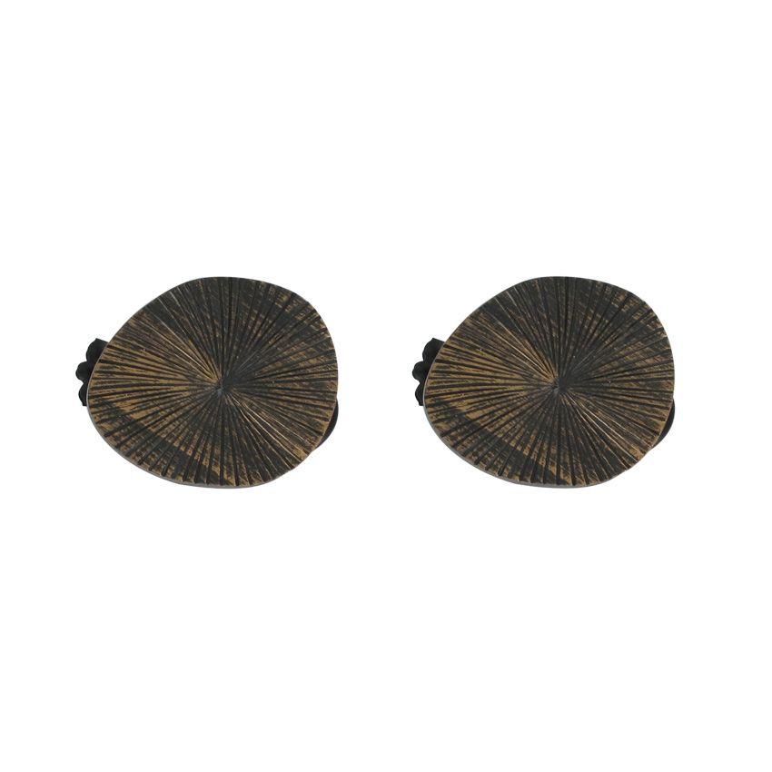 lot de 2 pinces fossile noir dor embrasse pince et d coration eminza. Black Bedroom Furniture Sets. Home Design Ideas