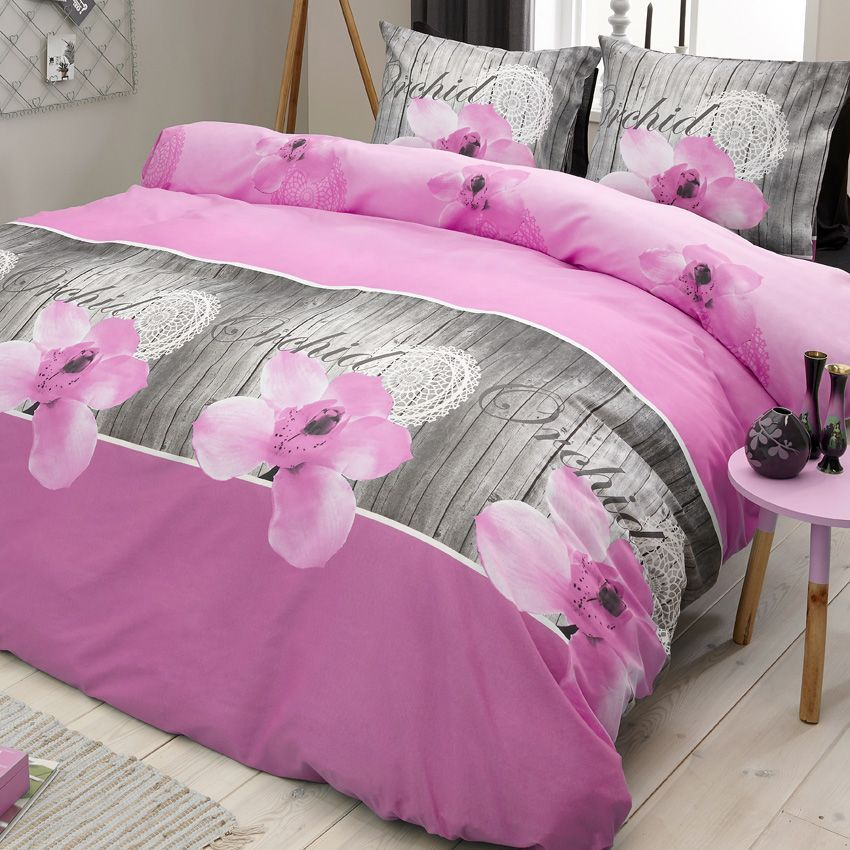 housse de couette grise et rose housse de couette rose. Black Bedroom Furniture Sets. Home Design Ideas