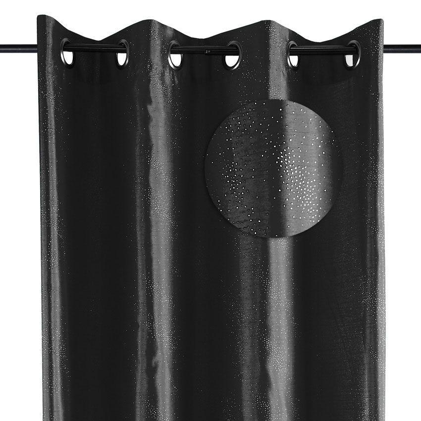 rideau 135 x h240 cm galaxie noir rideau tamisant eminza. Black Bedroom Furniture Sets. Home Design Ideas