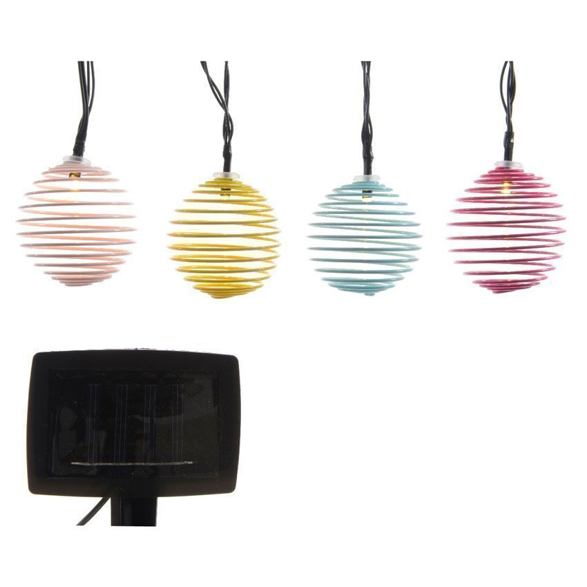 Guirlande solaire 10 led design multicolore d coration for Guirlande jardin led