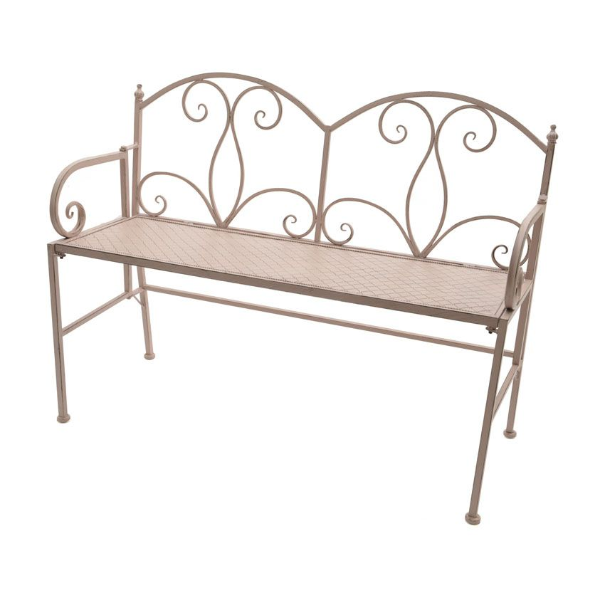 banc de jardin l onie fer forg rose doux banc de jardin eminza. Black Bedroom Furniture Sets. Home Design Ideas