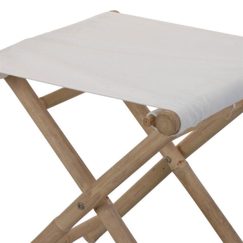 tabouret de jardin pliant bambou blanc chaise et fauteuil de jardin eminza. Black Bedroom Furniture Sets. Home Design Ideas