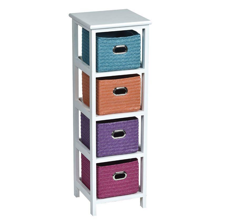 meuble 224 panier narrow multicolore meuble d233co eminza