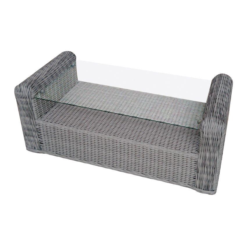 Table basse de jardin en verre giglio gris salon de - Verre pour table basse ...