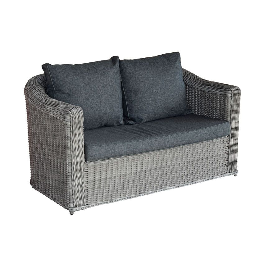 Canap de jardin 2 places giglio gris gris anthracite for Taille canape 2 places
