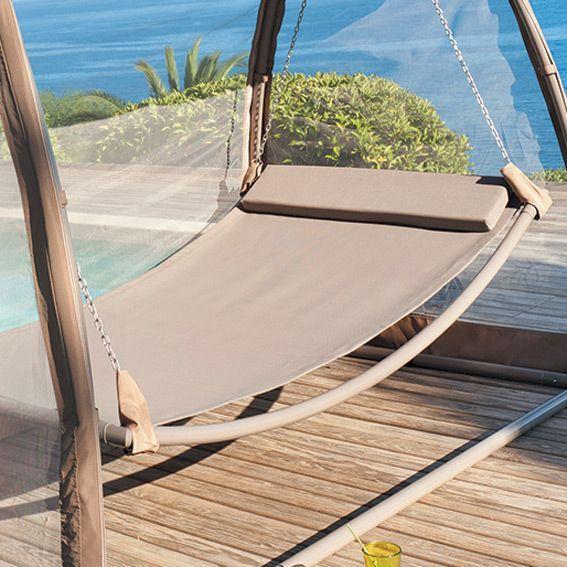 assise de balancelle trinidad taupe balancelle eminza. Black Bedroom Furniture Sets. Home Design Ideas
