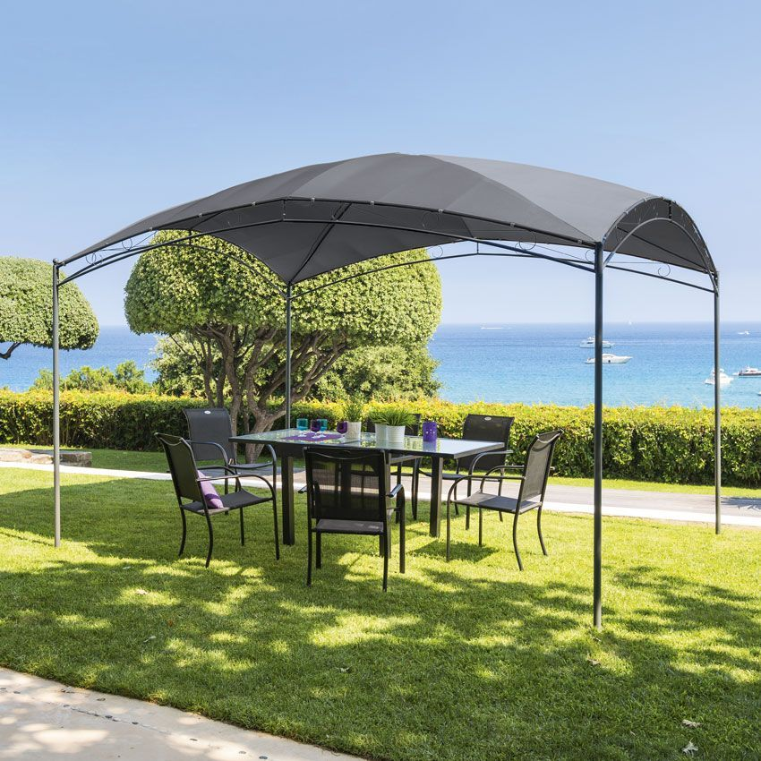 toile de pergola ota 3 x l4 m ardoise structure. Black Bedroom Furniture Sets. Home Design Ideas