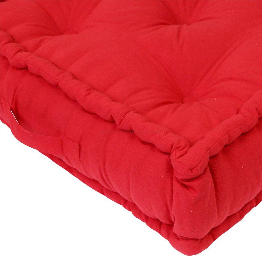 Grand coussin de sol 60 cm etna rouge coussin de sol et pouf eminza - Coussin de sol grand ...