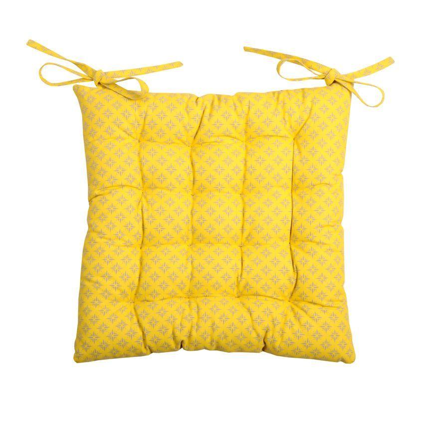 coussin de chaise charles moutarde galette et coussin de. Black Bedroom Furniture Sets. Home Design Ideas