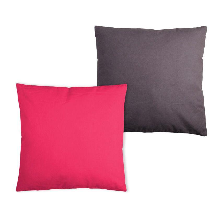 coussin bicolore gris et fuchsia coussin et housse de coussin eminza. Black Bedroom Furniture Sets. Home Design Ideas