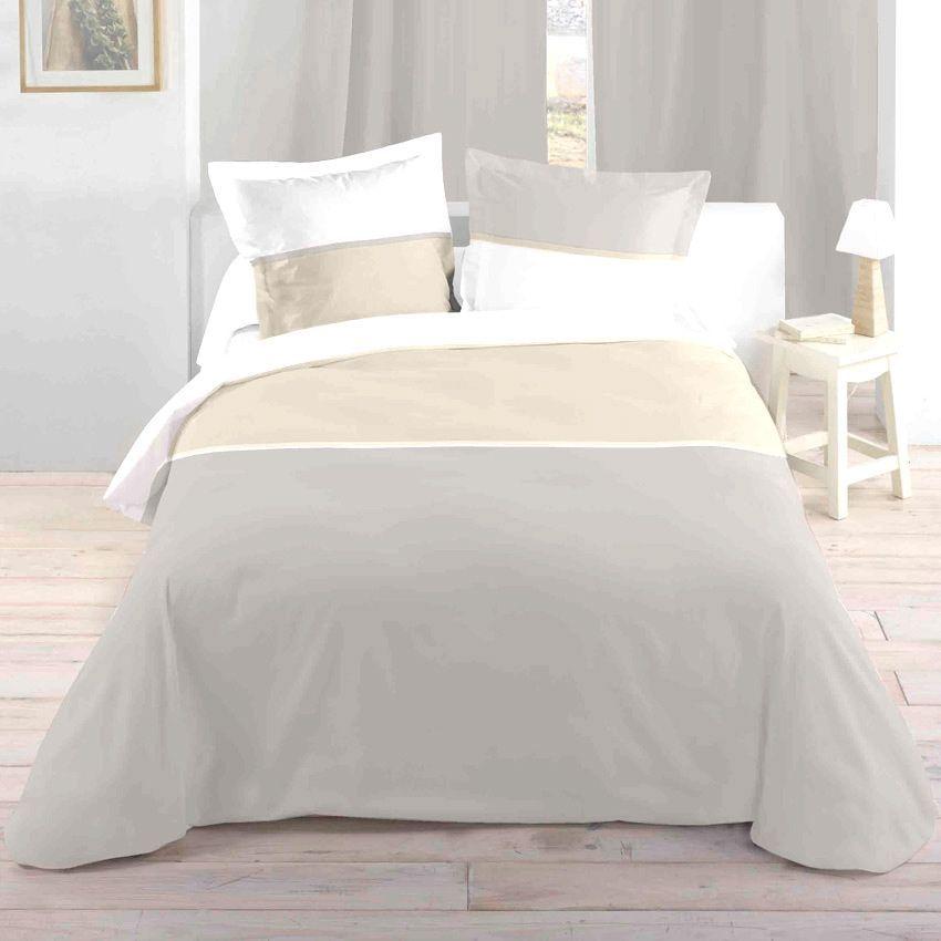 housse de couette et deux taies 240 cm bicolore lin housse de couette eminza. Black Bedroom Furniture Sets. Home Design Ideas