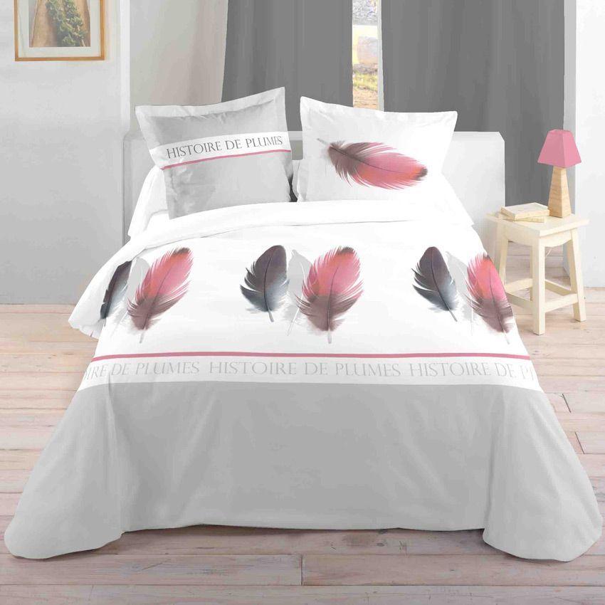 Housse de couette et deux taies 260 cm histoire de for Housse de tete de lit