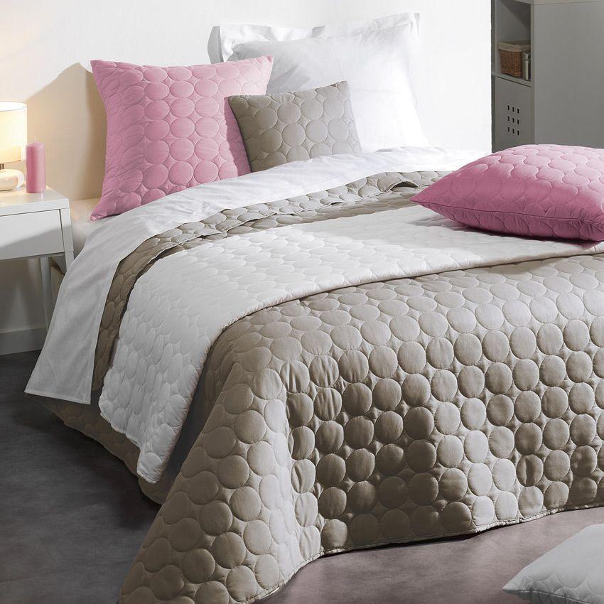 couvre lit 220 x 240 cm candy lin couvre lit boutis eminza. Black Bedroom Furniture Sets. Home Design Ideas